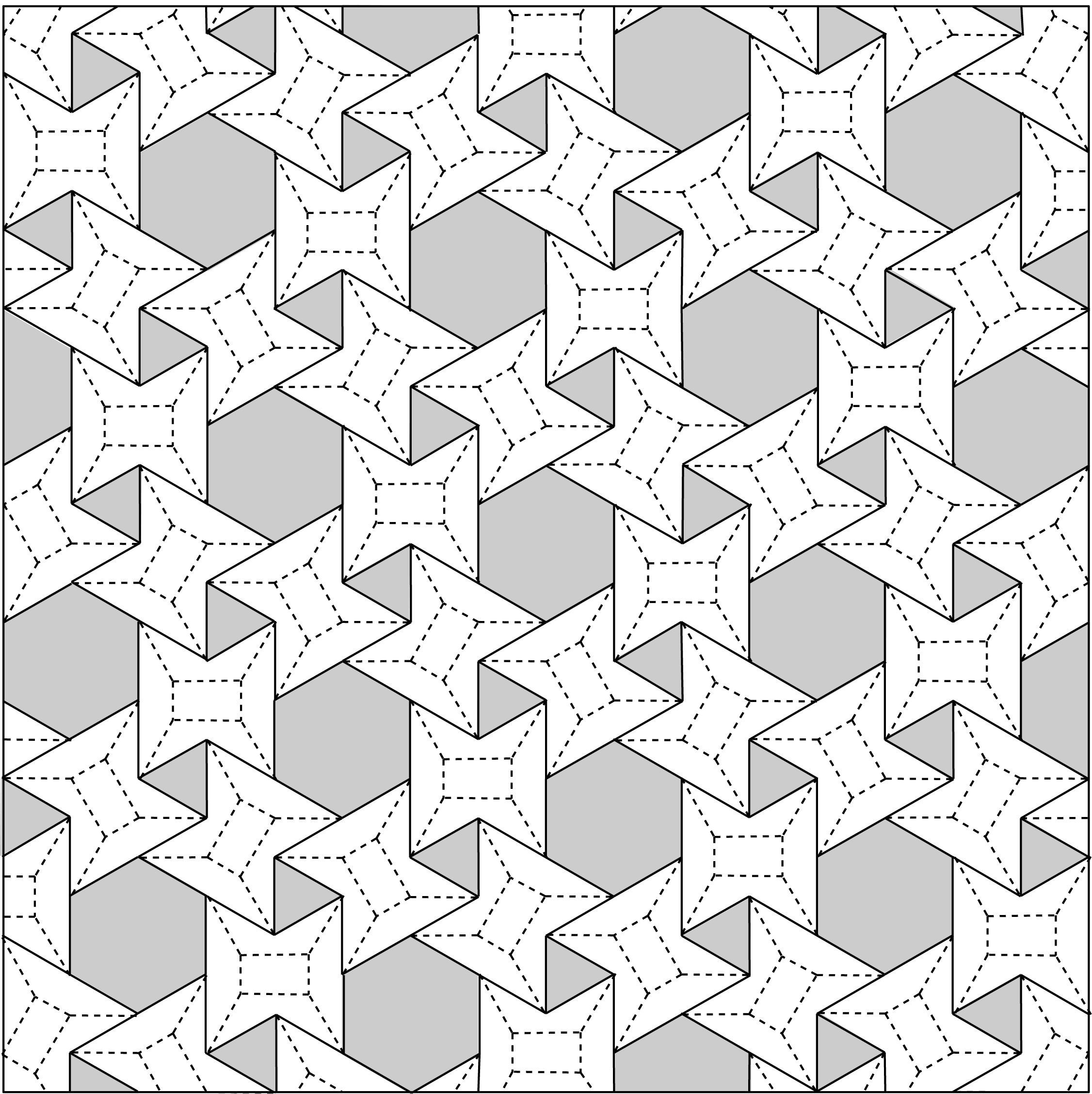 tessellating shapes templates - designcoding waterbomb tessellation and beyond