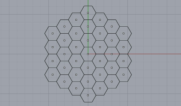 designcoding | Hexagonal grid with Rhino Python